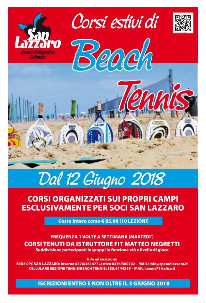Corsi di Beach Tennis 2018