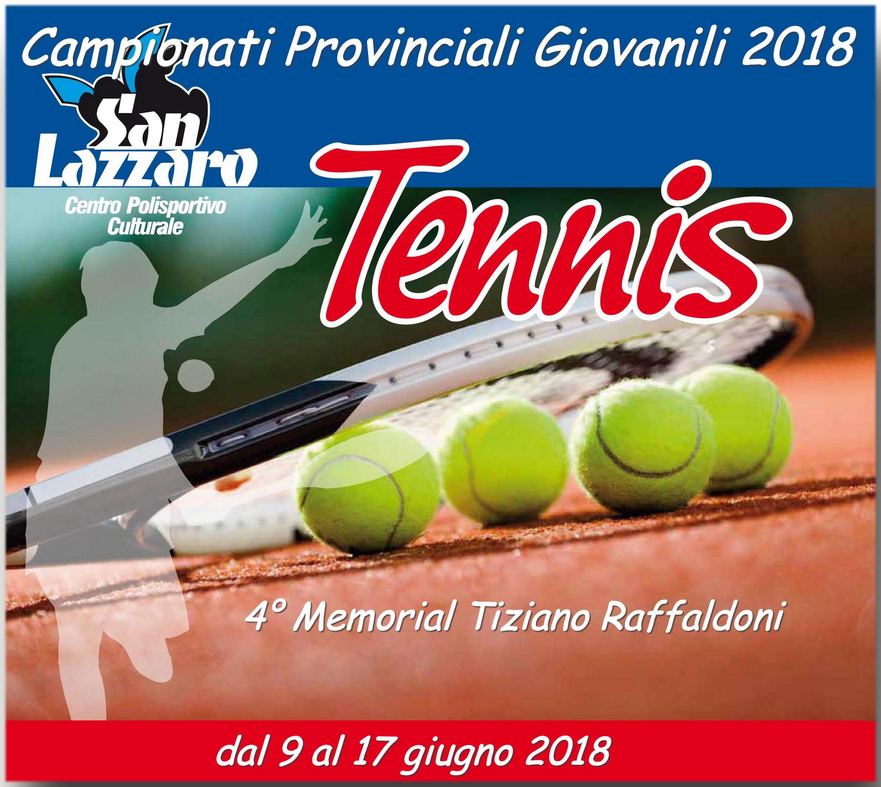 Tennis – Campionati Provinciali Giovanili 2018 MANTOVA