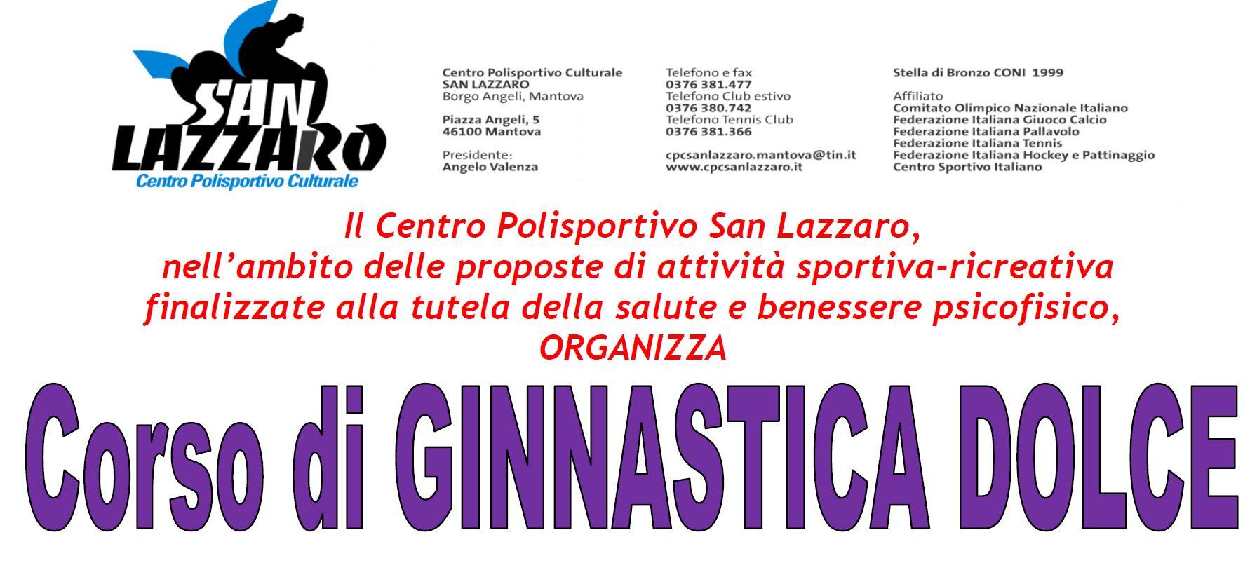 Centro Polisportivo E Culturale San Lazzaro Mantova Corso Di Ginnastica Dolce